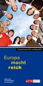 Titelblatt Europa macht Reich. KDA-Broschüre zum Buß- und Bettag 2012.